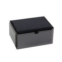 Dulwich Designs 73069 Boutique Smoked Glass Glitter Trinket Box